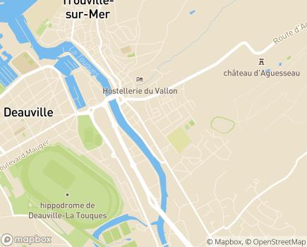 Localisation Résidence La Roseraie - 14360 - Trouville-sur-Mer