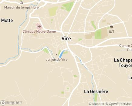 Localisation Foyer-Logement L'Ecluse - 14500 - Vire Normandie