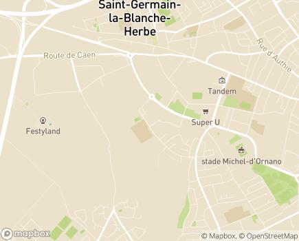 Localisation Korian - Clinique Brocéliande - 14000 - Caen