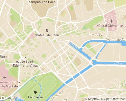 Localisation ADREA Mutuelle - 14028 - Caen