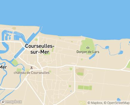 Localisation Domitys La Plage de Nacre - Résidence avec Services - 14470 - Courseulles-sur-Mer