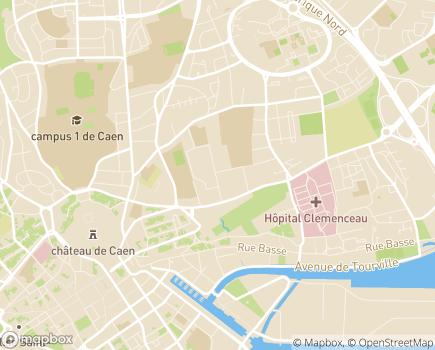 Localisation Résidence avec Services Les Girandières - 14000 - Caen