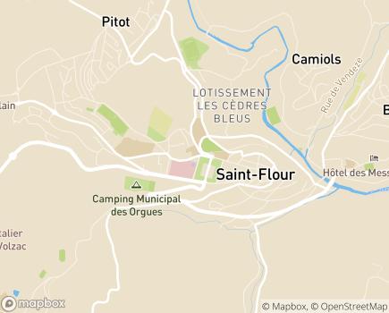 Localisation Lycée Saint-Vincent La Présentation (LEAP) - 15100 - Saint-Flour