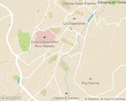 Localisation ARS Agence Régionale de Santé Délégation Départementale du Cantal - 15000 - Aurillac