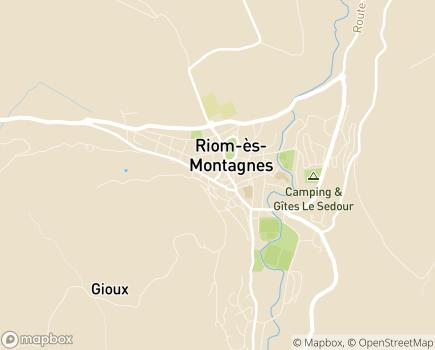 Localisation Colisée - Clinique du Haut Cantal - 15400 - Riom-ès-Montagnes