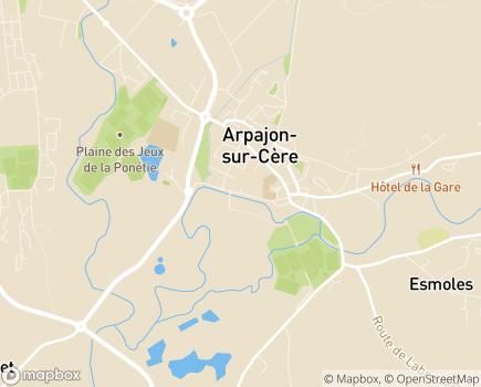 Localisation EHPAD Résidence de la Cère - 15130 - Arpajon-sur-Cère