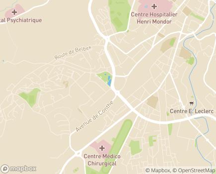 Localisation UNA ASeD Cantal - Bureau d'Aurillac Est - 15000 - Aurillac