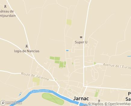 Localisation Korian - Clinique Villa Bleue - 16200 - Jarnac