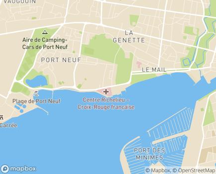 Localisation Centre Richelieu - Croix-Rouge Française - 17028 - La Rochelle