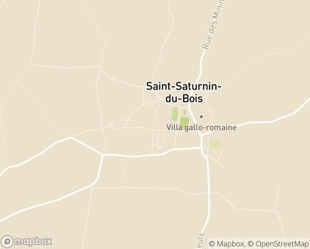 Localisation EHPAD Résidence du Bois Long - 17700 - Saint-Saturnin-du-Bois