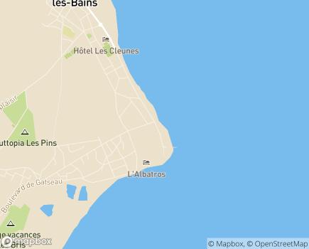 Localisation Centre de Réadaptation d'Oléron - 17370 - Saint-Trojan-les-Bains