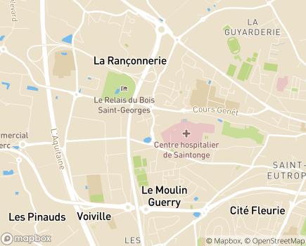 Localisation Centre Hospitalier de Saintonge - 17108 - Saintes