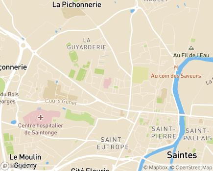 Localisation Clinique Richelieu - 17100 - Saintes