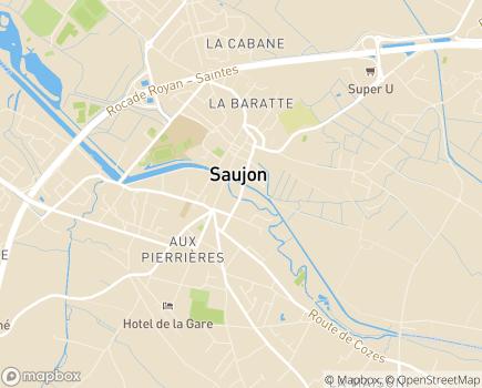 Localisation Thermes de Saujon -  Affections Psychosomatiques - 17600 - Saujon