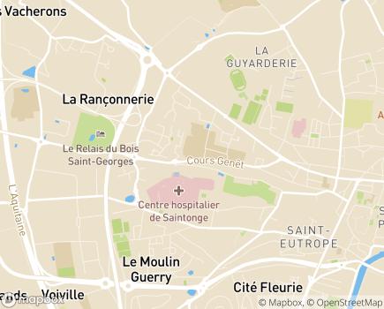 Localisation Service de Maintien à Domicile - SSIAD - CCAS de Saintes - 17100 - Saintes