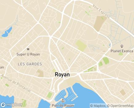Localisation Les Balcons de Royance, Résidence avec Services OVELIA - 17200 - Royan