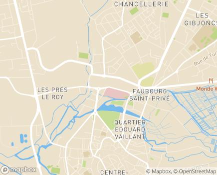 Localisation Hôpital Taillegrain, Centre de Gérontologie des Prés Fichaux - 18020 - Bourges