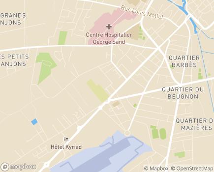 Localisation EHPAD Les Résidences de Bellevue - 18021 - Bourges