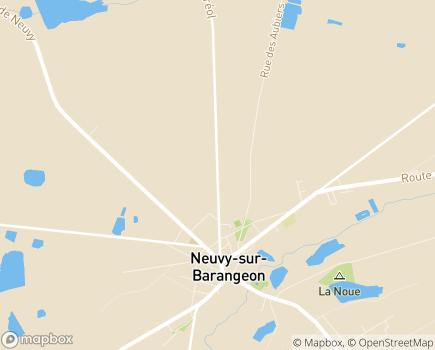 Localisation Institut Médico-Educatif de Sologne PEP 18 - 18330 - Neuvy-sur-Barangeon