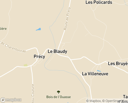 Localisation EHPAD Le Blaudy - 18140 - Précy