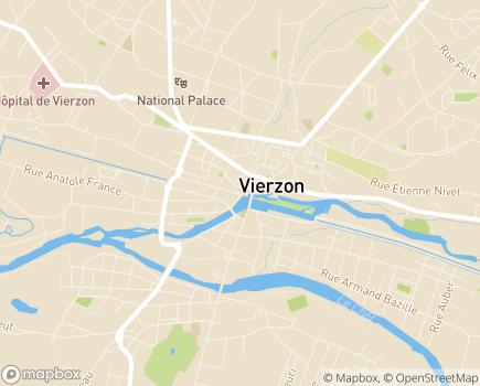 Localisation SESSAD / Institut Médico-Educatif / CAMSP / Pôle ambulatoire - PEP 18 - 18100 - Vierzon