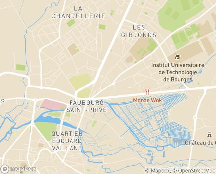 Localisation EHPAD Antoine Moreau - 18000 - Bourges