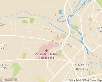 Localisation USLD Les Amandiers du Centre Hospitalier George Sand - 18000 - Bourges