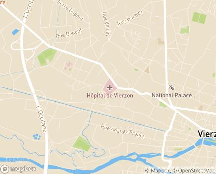 Localisation USLD Centre Hospitalier Vierzon - 18100 - Vierzon