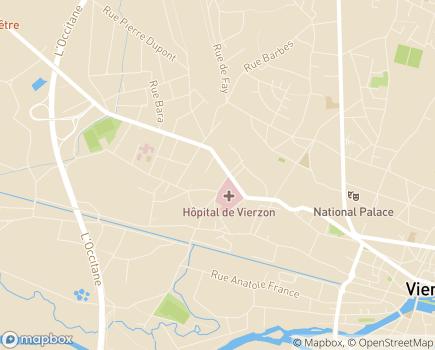Localisation Korian Pays des Trois Provinces - 18100 - Vierzon