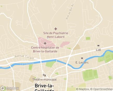 Localisation ADHAP Brive-La-Gaillarde - 19100 - Brive-la-Gaillarde