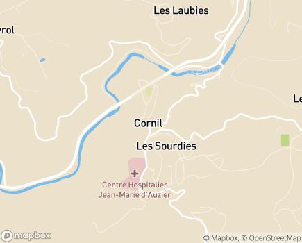 Localisation Omeidzou - 19150 - Cornil