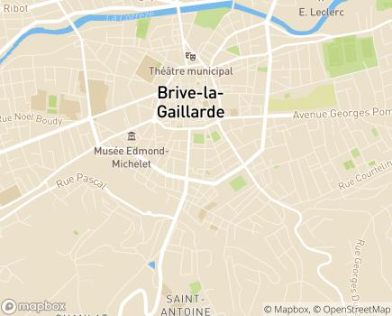 Localisation GESAP 19 - 19100 - Brive-la-Gaillarde