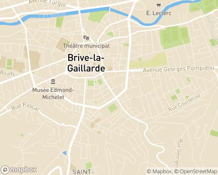 Localisation Les Jardins d'Arcadie Brive-la-Gaillarde - 19100 - Brive-la-Gaillarde