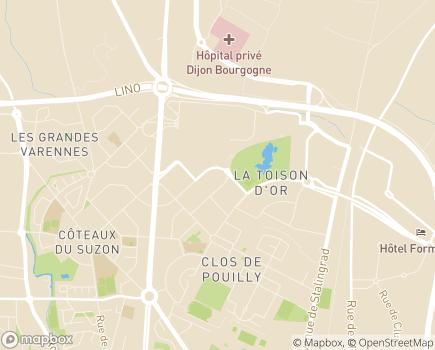 Localisation Korian Les Cassissines - 21000 - Dijon