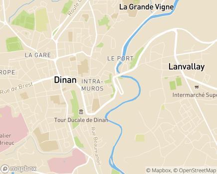 Localisation EHPAD du Jardin Anglais - 22100 - Dinan