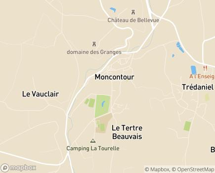 Localisation EHPAD - HSTV Hospitalité Saint Thomas de Villeneuve - 22510 - Moncontour
