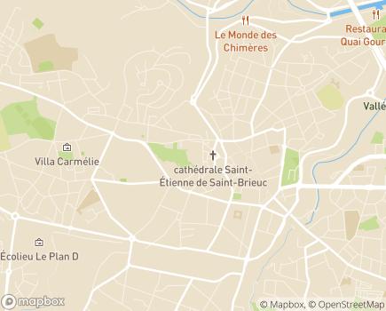 Localisation Conseil Départemental des Côtes d'Armor - 22023 - Saint-Brieuc