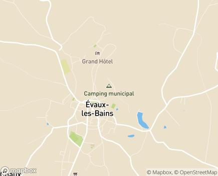 Localisation Centre Hospitalier Les Genêts d'Or - 23110 - Évaux-les-Bains