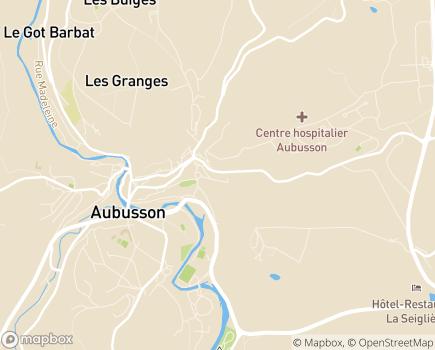 Localisation ALEFPA SESSAD Pierre Louchet III - Antenne d'Aubusson - 23200 - Aubusson