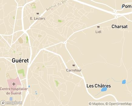 Localisation ARS Délégation Départementale de la Creuse - 23006 - Guéret