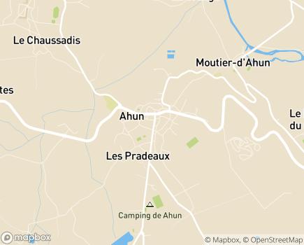 Localisation EHPAD Résidence Le Mas Faure (Fondation Partage et Vie) - 23150 - Ahun
