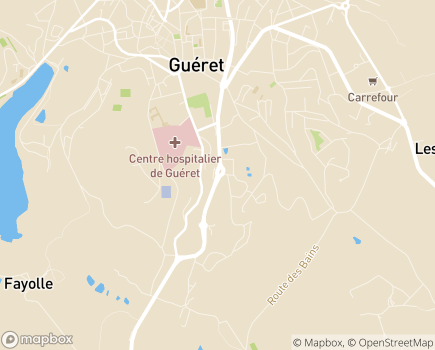 Localisation Résidence la Fontaine - 23000 - Guéret