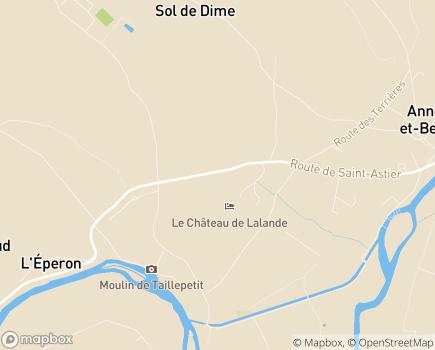 Localisation Centre de Rééducation et de Réadaptation Fonctionnelle et Cardiaque La Lande - 24430 - Annesse-et-Beaulieu