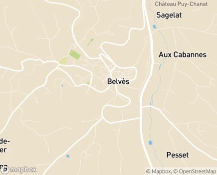 Localisation Service de Soins de Suite et de Réadaptation - 24170 - Belvès