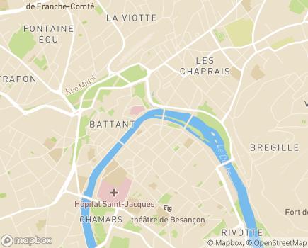 Localisation MSA de Franche-Comté - 25090 - Besançon