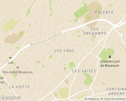 Localisation Mutualité Française du Doubs - 25041 - Besançon
