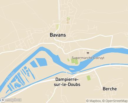 Localisation EHPAD Les Soleils - 25550 - Bavans