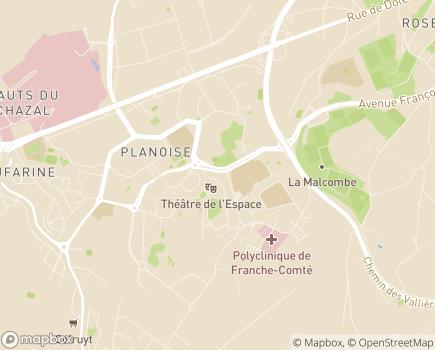 Localisation URIOPSS Union Régionale Interfédérale des Organismes Privés Sanitaires et Sociaux Bourgogne Franche-Comté - 25000 - Besançon