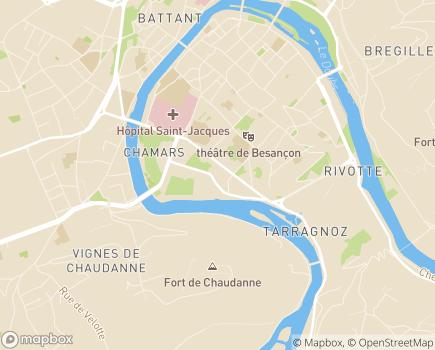 Localisation Conseil Départemental du Doubs - 25031 - Besançon