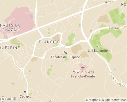 Localisation Centre Communal d'Action Sociale - 25050 - Besançon
